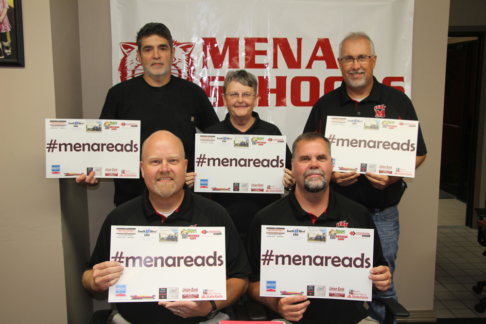 Mena School Board supports #menareads!