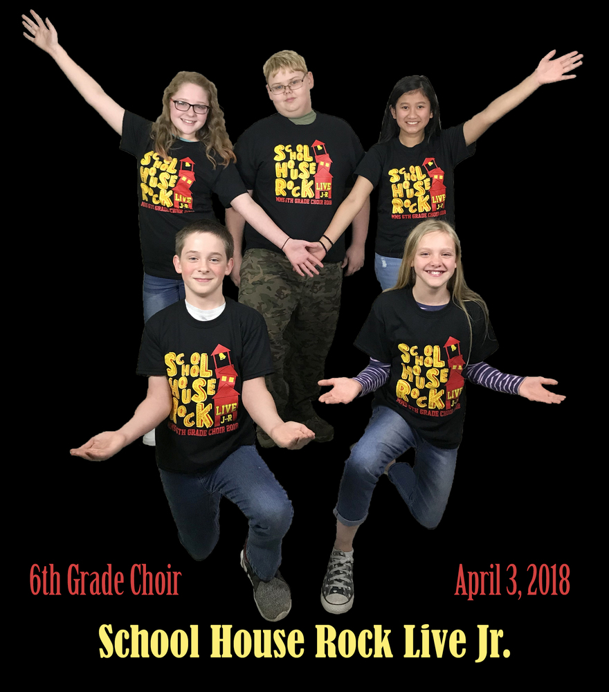 6th Grade Choir to Perform School House Rock Live Jr Tonight
