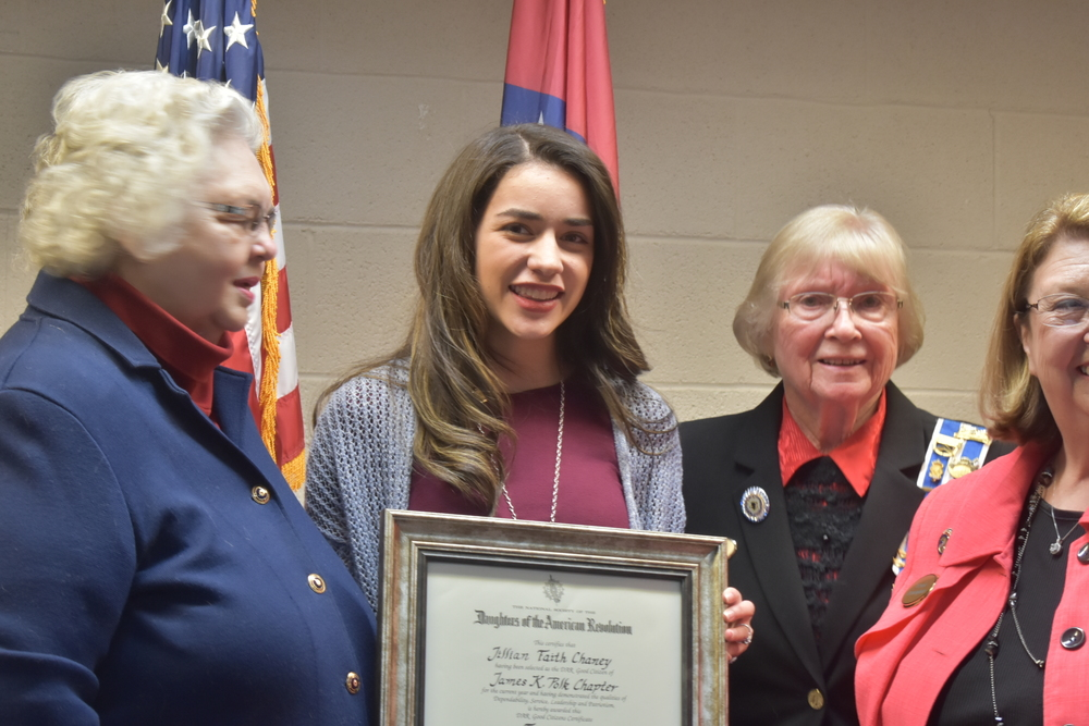 Chaney Receives DAR Award!