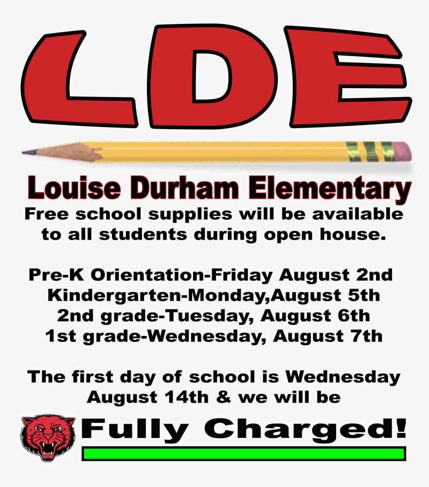 Free School Supplys for LDE Students!