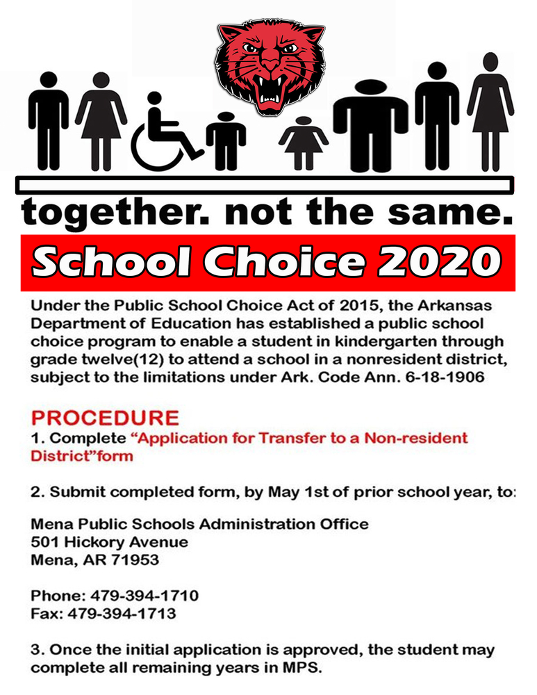 School Choice Deadline May 1st !