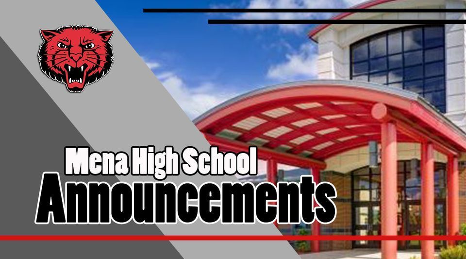 MHS ANNOUNCEMENTS